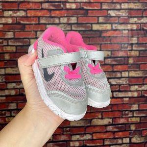 6C Nike Pink & Grey Tennis Shoes